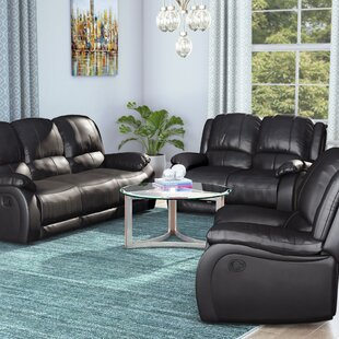Juan Reclining 3 Piece Leather Living Room Set by Latitude Run