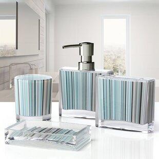 Ordinaire Iced 4 Piece Bathroom Accessory Set