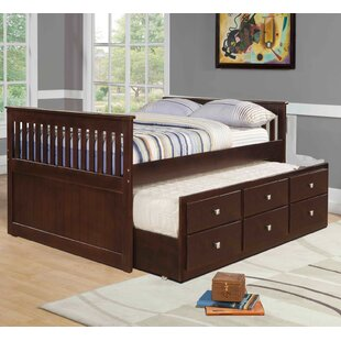 Find the perfect Belfield Full Captain Bed with Trundle by Harriet Bee Reviews (2019) & Buyer's Guide
