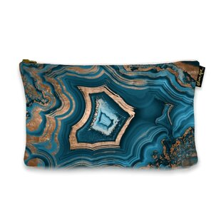 Affordable 6 H x 9 W Dreaming About You Geode Jewelry Pouch By Mercer41