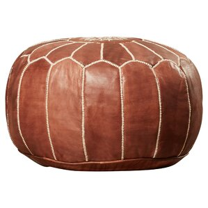Carolos Pouf Leather Ottoman by Mistana