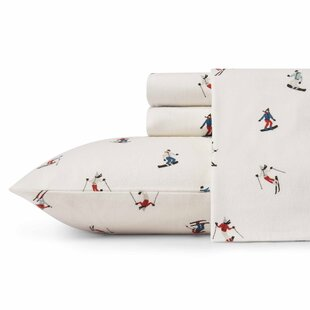 Ski Slope Flannel Sheet Set by Eddie Bauer Best Choices
