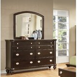 Darci 8 Drawer Double Dresser with Mirror by Darby Home Co