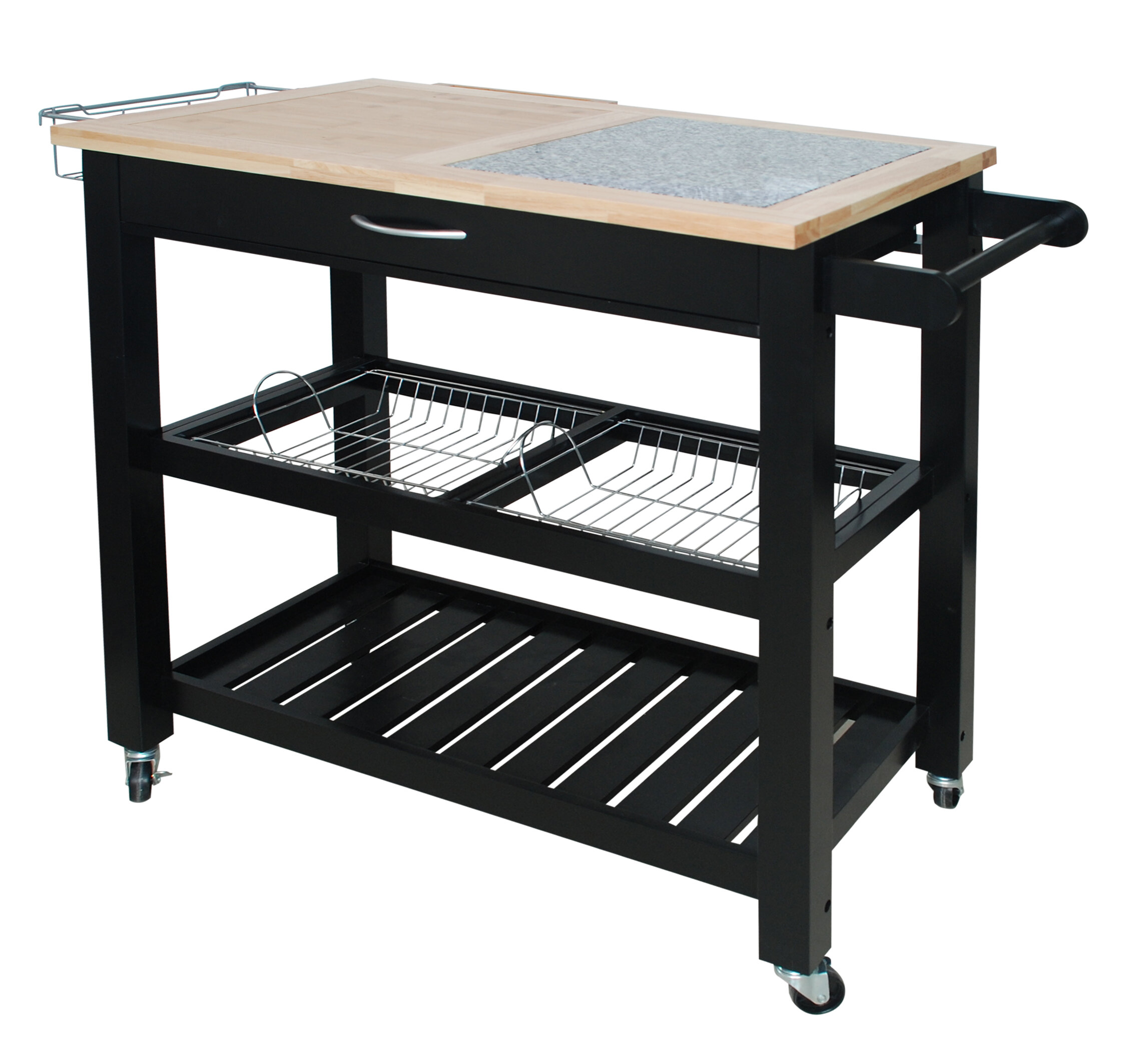 Emilie Kitchen Cart With Granite Top