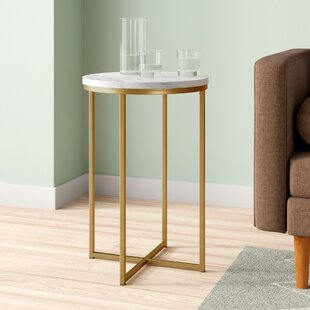 12 Inch Round Brass Side Table Wayfair