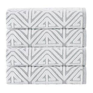 Glamour 100% Cotton Towel (Set Of 4) by Enchante Home 2019 Sale