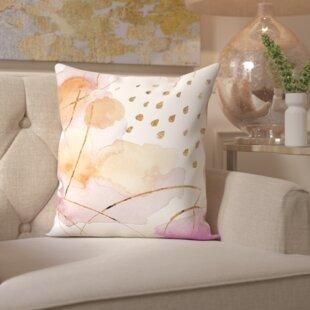 Paola Rain or Shine Gold Throw Pillow