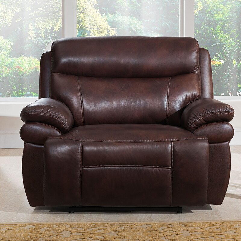 Sanford Leather Power Recliner & Amax Sanford Leather Power Recliner u0026 Reviews | Wayfair islam-shia.org