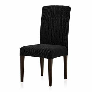 Spandex Stretchy Box Cushion Dining Chair Slipcover (Set Of 2) By ClassicLiving