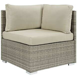 Heiner Fabric Outdoor Patio Chair with Sunbrella Cushions