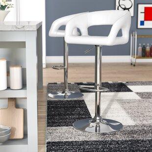 Cosmas Adjustable Height Bar Stool by Bra..