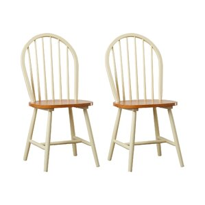 bramble hill solid wood dining chair set of 2