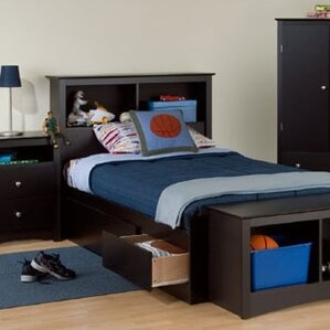 Twin Storage Platform Customizable Bedroom Set