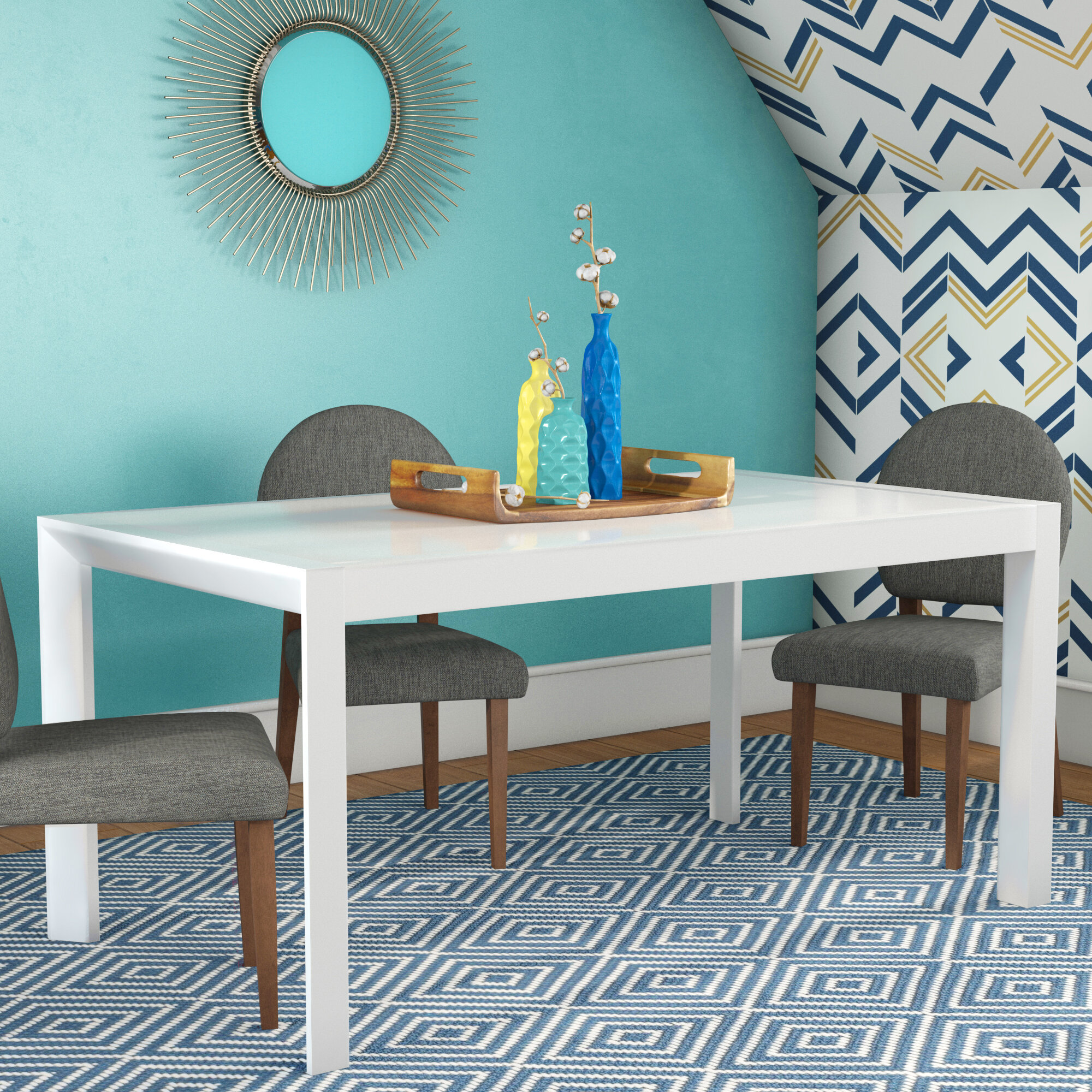Wade Logan Cannock Extendable Dining Table