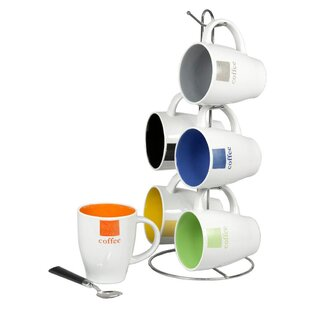 Hanley 7 Piece Coffee Mug Set