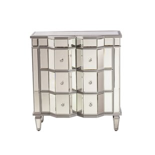 Design Tree Home Esme Mirrored 3 Drawer Dres..