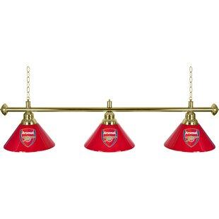 Trademark Global Premier League 3 Shade 3-Light Pool Table Light