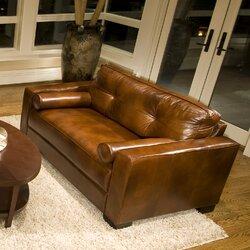 soho top grain leather oversized armchair
