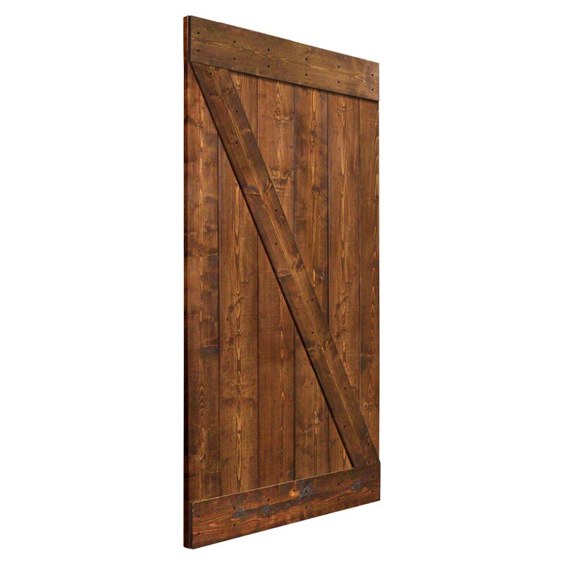 Superior Solid Wood Panelled Pine Interior Barn Door