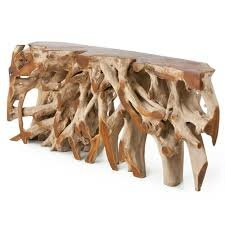 Teak Root Console Table by IKsunTeak Discount