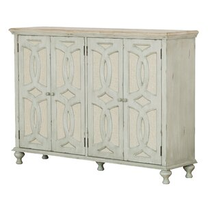 Hattie Wood And Fabric 4 Door Sideboard Bargain