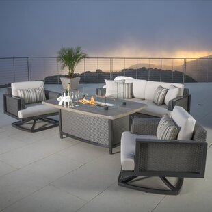 Messer 4 Piece Sunbrella Sofa Seating Group with Cushions by Rosecliff Heights