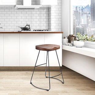 Carbon Backless Metal 25.78 Bar Stool - set of 2 (Set of 2) by Foundry Select