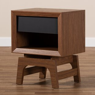 Gholston Wood 1 Drawer Nightstand by George Oliver Cheap