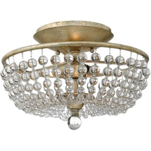 Caspia 2-Light Semi Flush Mount by Fredrick Ramond