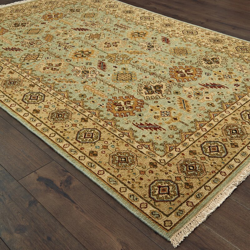 Tommy Bahama Home Angora Traditional Handwoven Flatweave Wool Beige Sky Blue Area Rug Wayfair
