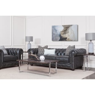 Darby Home Co Tanisha Leather Configurable Living Room Set