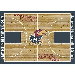 NCAA College Home Court Kansas Novelty Rug