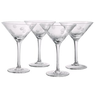Brumit Polka Dot Martini Glass (Set of 4)