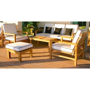 Cotter 5 Piece Sunbrella Sofa Set with Cushions