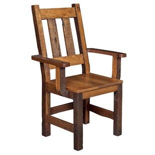 Rabon Solid Wood Armchair by Loon Peak