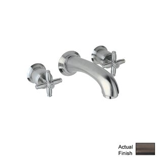 Rohl Zephyr Double Handle Wall Mounted Spout Tub Filler with Cross Handle