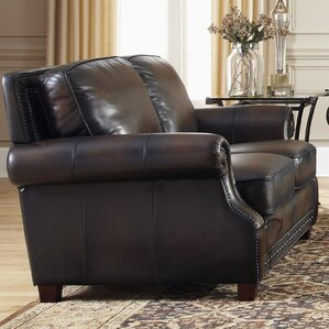 Leather Loveseat by Lazzaro Leather