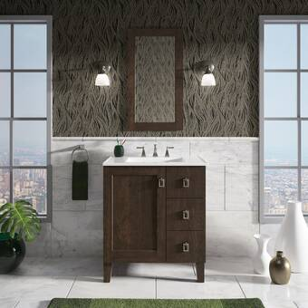 Kohler Damask 30 Vanity Base Only With Furniture Legs 1 Door And 3 Drawers On Left Wayfair