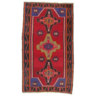 Price comparison Russian Kazak Lambswool Hand-Knotted Red/Black Area Rug ByPasargad NY