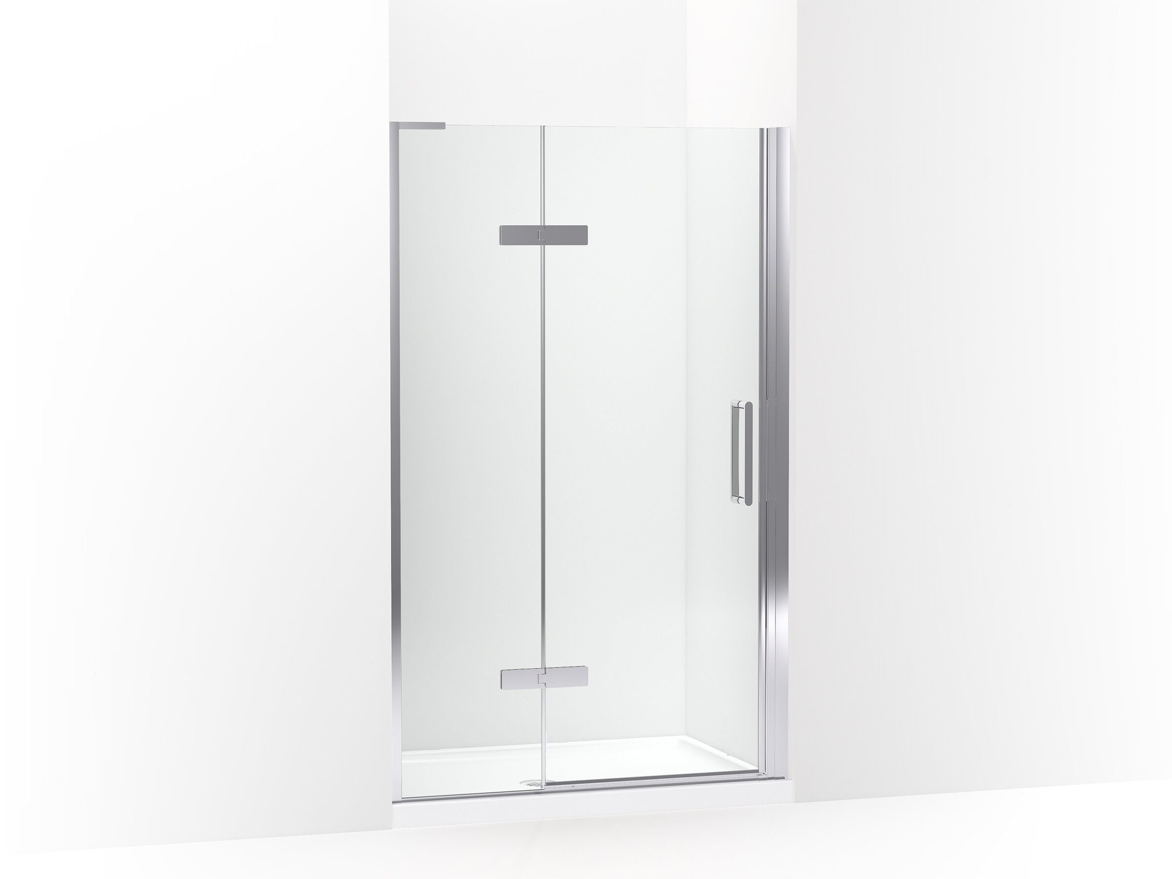 Composed Frameless Pivot Shower Door
