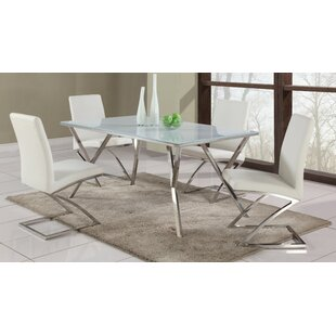 Decimus 5 Piece Metal Dining Set by Orren Ellis #2