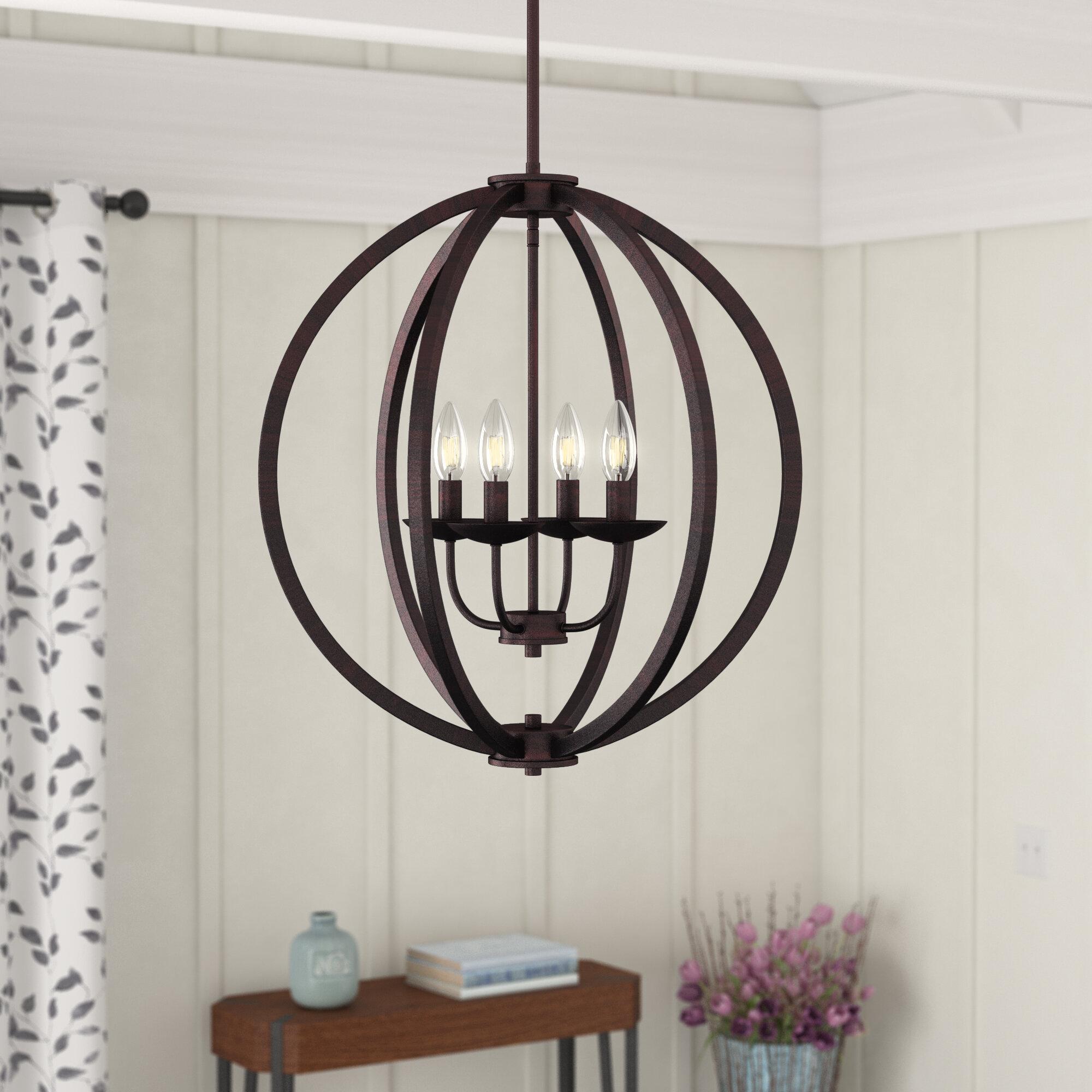 Laurel Foundry Modern Farmhouse Bouvet 4 Light Candle Style Globe Chandelier Reviews Wayfair Ca
