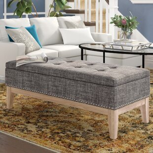 Charlton Home Lewistown Tufted Mid-Century Upholstered Storage Bench