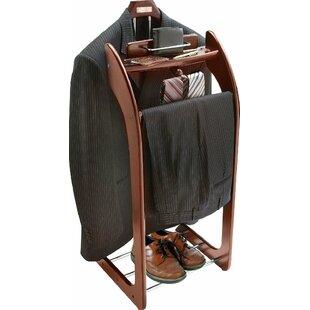 Superbe Mahogany Hardwood Wardrobe Clothes Valet Stand And Orginaizer