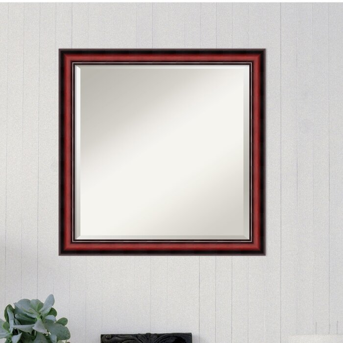 Square Cherry Accent Wall Mirror