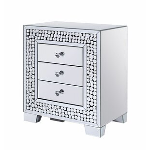 Rosdorf Park Lapham 3 Drawer Nightstand