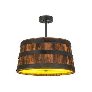 Meyda Tiffany Whiskey Barrel 4-Light Pendant