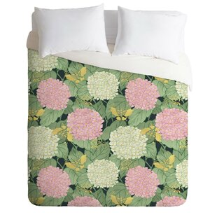 East Urban Home Hydrangea and Butterflies Duvet Cover Set
