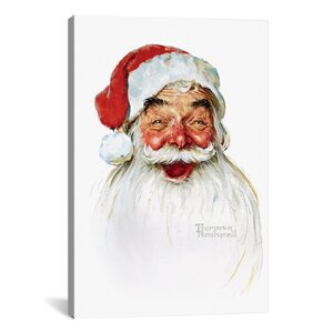'Santa Claus' by Norman Rockwell Graphic Art