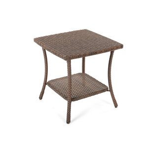 Denham Outdoor Garden Rattan Side Table by Highland Dunes 2019 Sale